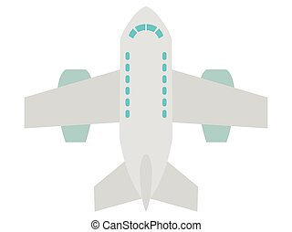 jet, passager, vecteur, avion, illustration