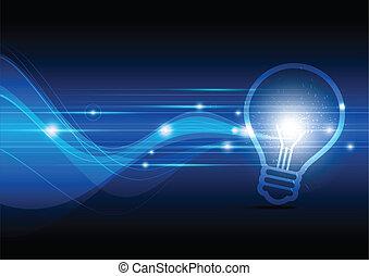 jeter étincelles, lampe, électrique