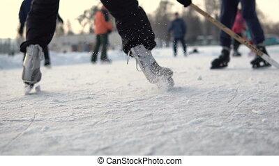 jeu, amateur, hockey