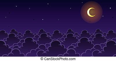 jeu, ciel, fond, nuit