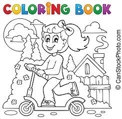 jeu, coloration, gosses, thème, 2, livre