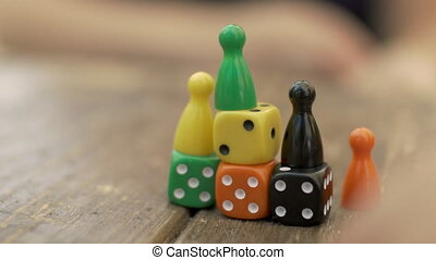 jeu, compteurs, dés, jouer