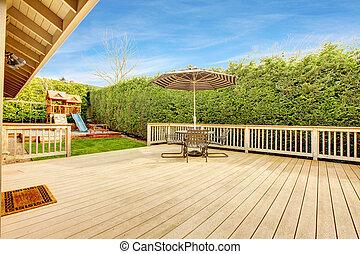 jeu, gosses, yard, secteur, bakyard, patio