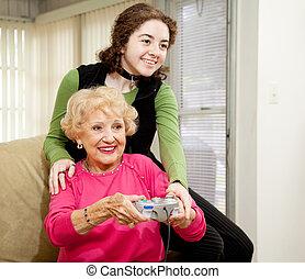 jeu, grand-maman