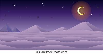jeu, neige, fond, nuit