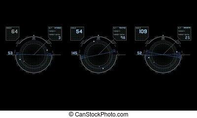 jeu ordinateur, high-tech, interface