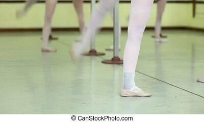 jeune, ballet, école, femmes