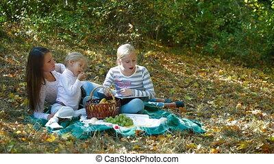 jeune famille, nature