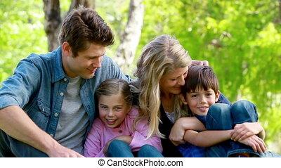 jeune famille, portrait