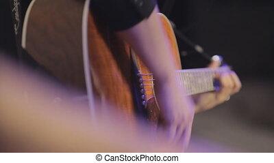 jeux, club, homme, guitare, beau