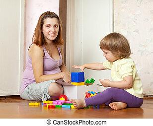jeux, maison famille