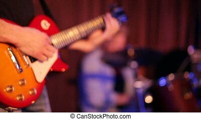 jeux, musicien, guitare