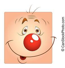 joker, mignon, smiley, visage heureux