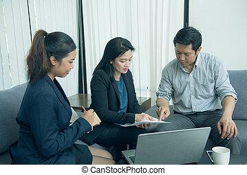 joli, business, interne, leur, écoute, équipe, leader.