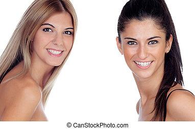 joli, deux filles