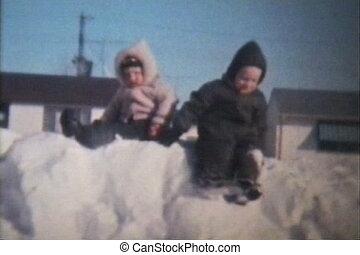 jouer, (1966), frères, neige