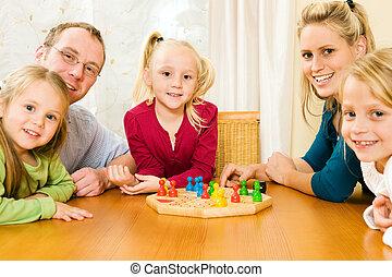 jouer, famille, boardgame
