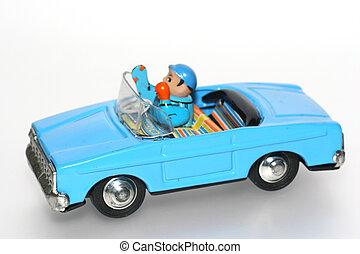 jouet, étain, chauffeur, voiture, +