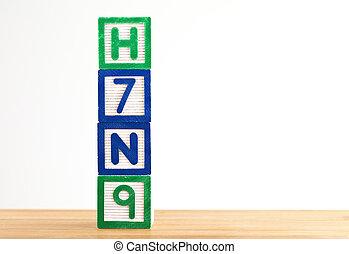 jouet bois, h7n9, bloc