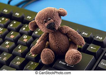 jouet, clavier ordinateur
