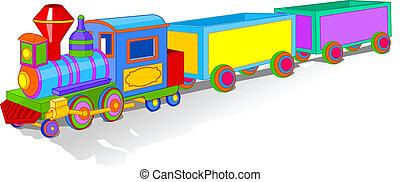 jouet, coloré, train