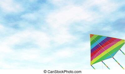 jouet, divertissement, cerf volant, -
