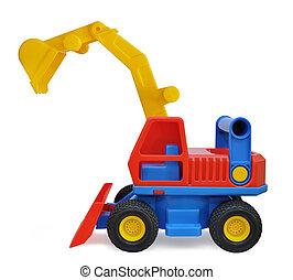 jouet, enfants, excavateur