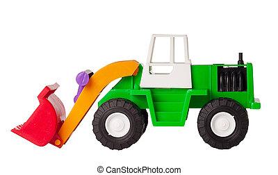 jouet, isolé, excavateur