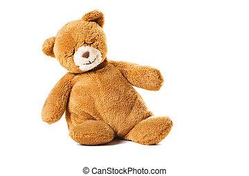 jouet, ours, dormir