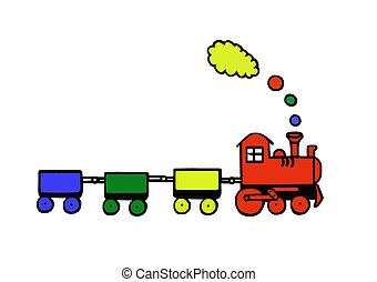 jouet, rigolote, train