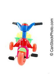 jouet, vélo, plastique