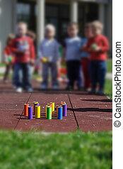 jouets éducatifs, enfants, bricolage, jouer