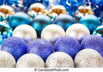 jouets, balls., fond, noël, papiers peints