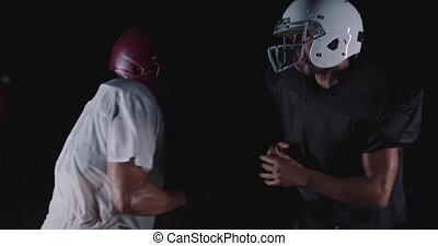 joueur, attirail, adversaire, football américain