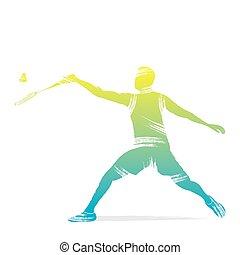 joueur, badminton, conception