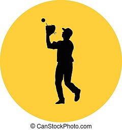 joueur, base-ball