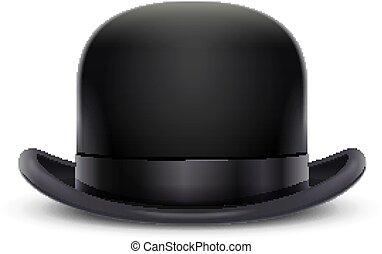 joueur boules, illustration., classique, vendange, vecteur, hat.