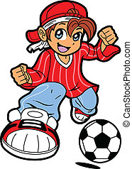 joueur, football, anime, manga