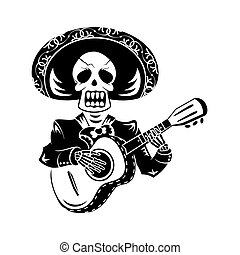 joueur guitare, mariachi