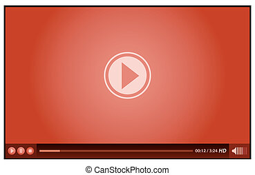 joueur, rouges, vidéo