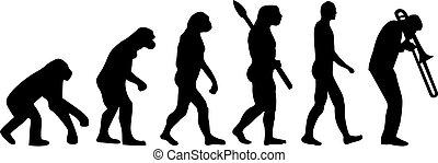 joueur, trombone, évolution