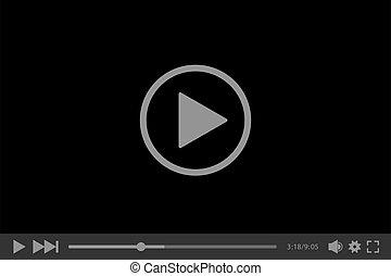 joueur, vecteur, illustration, toile, vidéo