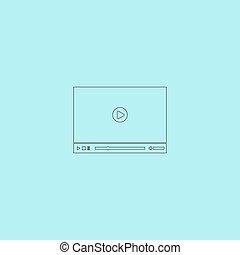 joueur, vecteur, vidéo, toile, illustration