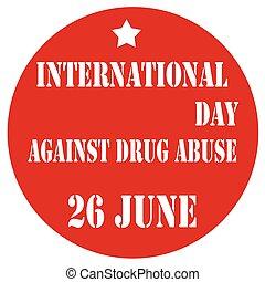 jour, abus, contre, drogue, international