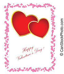 jour, boîte, texte, card., ton, changement, simple, valentine, vous, design.
