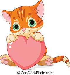jour, chaton, valentines