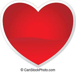 jour, coeur, ton, vecteur, valentine, design.
