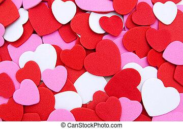 jour, confetti, valentines, fond
