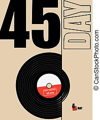 jour, enregistrement, vinyle