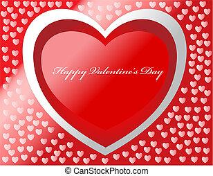 jour, heureux, carte, cœurs, vecteur, valentine, effects.